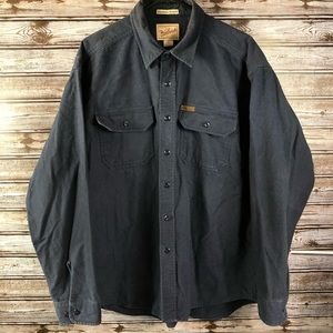 Woolrich Men's Expedition Chamois Button Up Navy